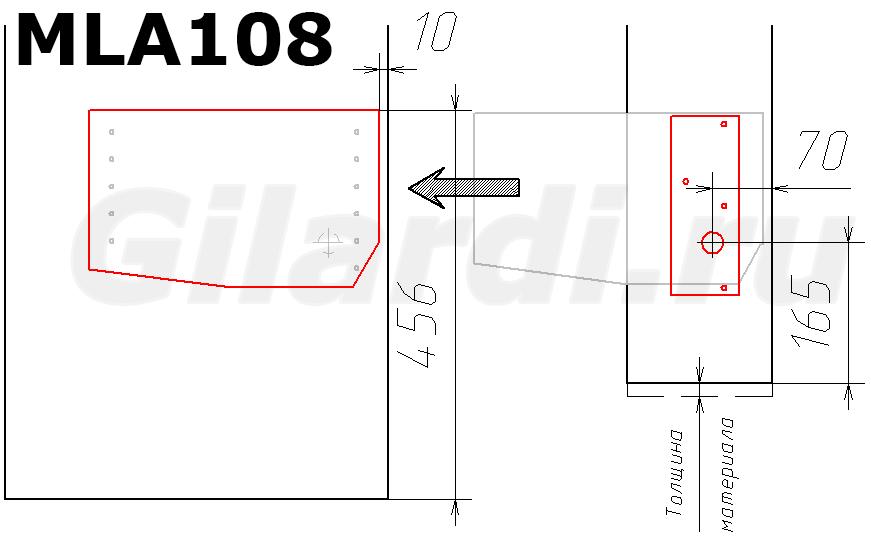 схема присадки механизма подъема MLA 108