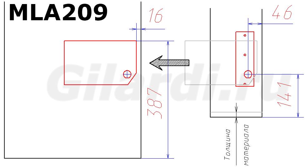 схема присадки механизма подъема MLA 209